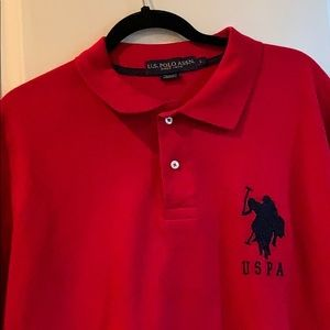 HOLIDAY RED POLO SHIRT! Never worn